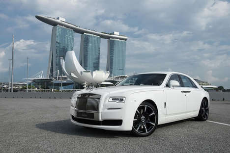 Customized Anniversary Cars - This Rolls Royce Was Specially Designed for Singapore's Golden Jubilee