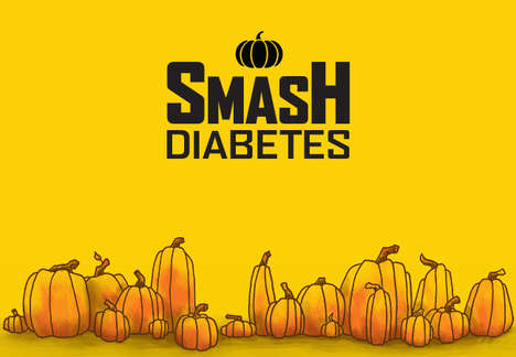 Pumpkin-Themed Diabetes Campaigns - The 'Smash Diabetes' Campaign