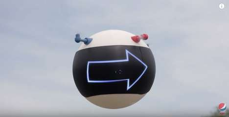 Friend-Finding Blimps - The Pepsi Max GPS Blimp Helps You Locate Your Lost Buddies