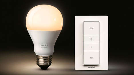 Wireless Lightbulb Remotes - The Philips Hue Bulb Can Be Dimmed with a Remote