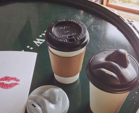 Face-Shaped Coffee Lids