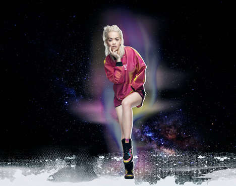 Songstress Streetwear Ads - The Fall Line from Adidas is Promted By a Galactic-Themed Rita Ora Video