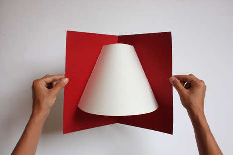 Pop-Up Paper Lamps - This Folding Lamp is Constructed from One Simple Sheet of Cardboard