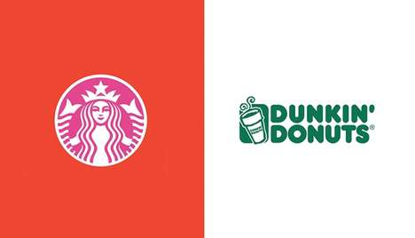 Color-Swapped Brand Logos - Paula Rúpolo Swaps the Coloring of Competitive Brands