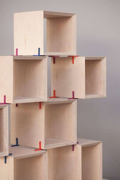 3D-Printed Furniture Joints - These Modular Furniture Joints Create Customized Stacked Shelving
