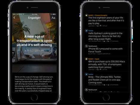 Minimalist News Apps - 'Birdy' is an App That Presents Relevant News Stories to You