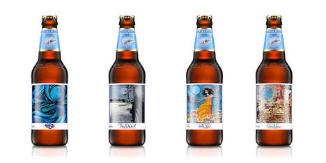 Storytelling Beer Labels - The Art on These Beer Bottles Reveal Stories Told by 20 Artists