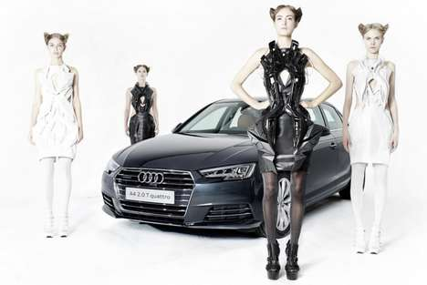 3D-Printed Interactive Dresses - These High-Tech Fashion Outfits are Inspired by the Audi 'A4'