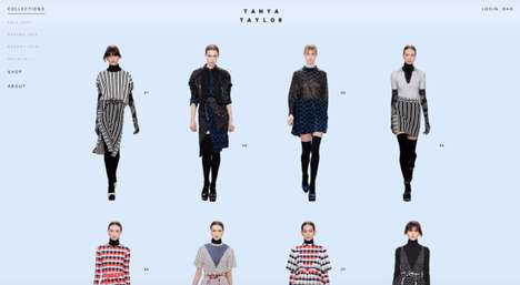 Rebranded Fashion E-Commerce Sites - The Tanya Taylor Site Lets Customers Shop Looks from the Runway
