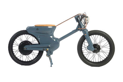 Customized Electric Bikes - Deus Ex Machina's Collaboration Creates a Vintage-Themed Electric Bike