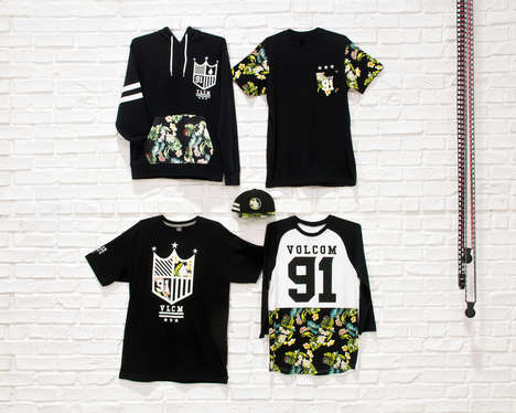 Floral Sports Apparel - The Future Athletics Fashion Collaboration Unites Volcom, New Era & Tilly's