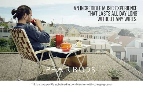 Miniature Cordless Earbuds - 'Pearbuds' are the World's Smallest Earphones