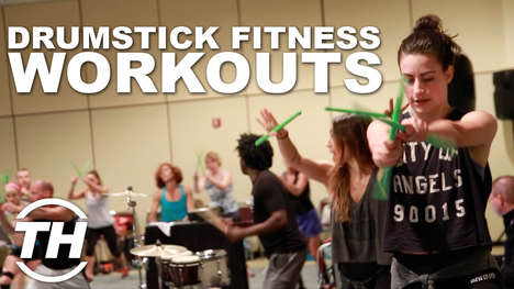 Drumstick Fitness Workouts - The POUND Workout Combines the Act of Drumming with Cardio Exercises