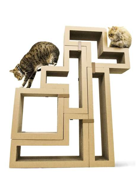 Geometric Cat Scratchers - This Modular Cat Furniture is Modern Looking and Design-Oriented