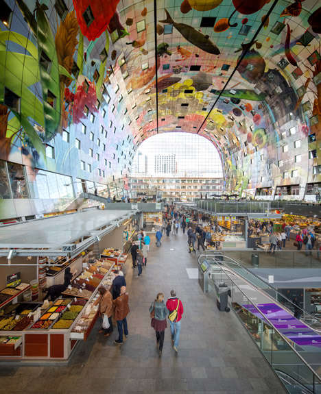 Arch-Shaped Supermarkets - The 'Monumentalises Food' is a Massive Enclosed Food Market