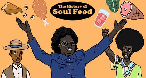 Historical Food Culture Illustrations - Adrian Miller's Graphics Explain the History of Soul Food