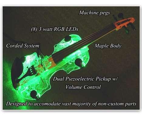 Illuminated LED Violins