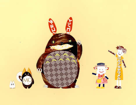 Candy Wrapper Cartoons - These Playful Characters are Made from Colorful Candy Packaging