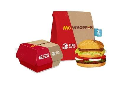 Hybrid Burger Collaborations - The 'McWhopper' Offers a Truce Between McDonald's & Burger King