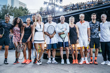 Tennis-Honoring Street Games - This Nike Tennis Court was Set Up on the Street to Honor the U.S Open
