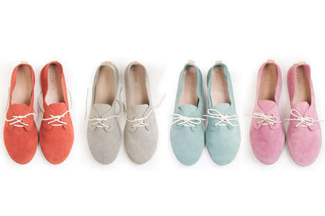 Colorful Suede Oxfords - These Slip-On Loafers Comes in a Variety of Bold and Vibrant Shades