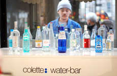 Fashionable Water Bar Menus