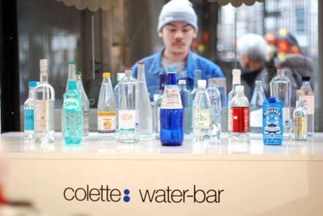 Fashionable Water Bar Menus - The Cultish Colette Water Bar Has a Menu of Over 100 Waters