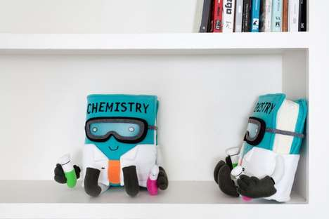 Plush Texbook Toys - This Project Wants to End Book-Hating with Textbook-Themed Pillows