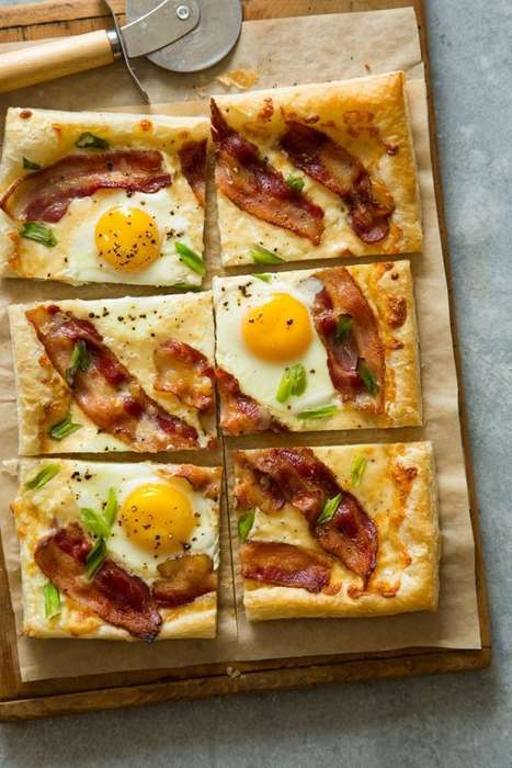 Bacon-Topped Breakfast Tarts - This Simple Breakfast Dish is Made from Basic Pantry Ingredients