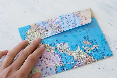 DIY Map Envelopes - This Simple DIY Project Will Have You Sending Mail in Style