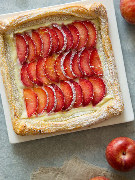 Cheesy Stone Fruit Tarts - This Easy Dessert Takes Advantage of Seasonal Summer Fruits