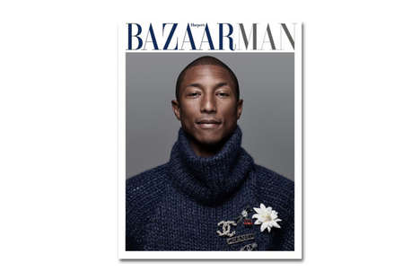 Sophisticated Musician Editorials - This Issue of Harpers Bazaar Will Feature Pharrell Williams