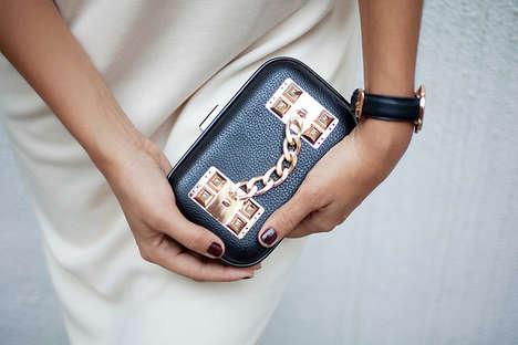 DIY Hardware Purses - This Clutch DIY Helps Create a Chic and Gilded Accessory