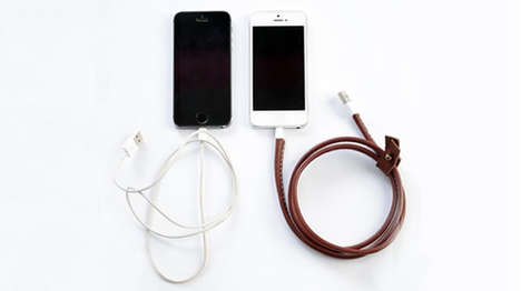 Leather Charging Cables - These 'Esbee' iPhone Cables Enhance Durability and Power of Inner Wires