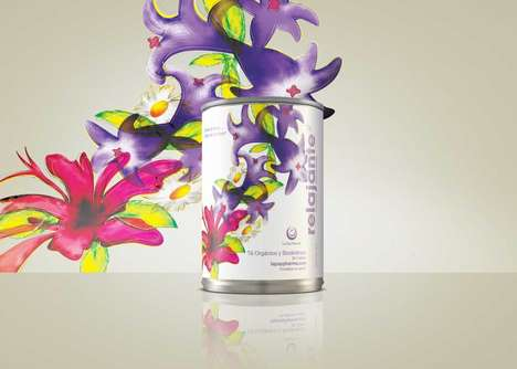 Floral Tea Canisters - These Bodacious Tea Packages Feature Oversized and Vibrant Flowers