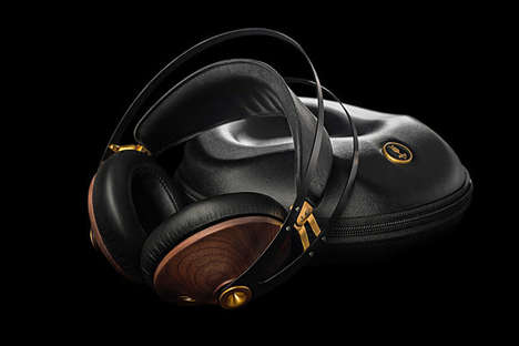 Elegant Wooden Headphones - These Classic Headphones Provide a Sleek Listening Experience