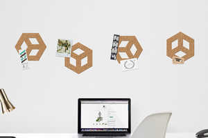 The Thabto Adhesive Cork Allows Users to Design Their Own Pinboards
