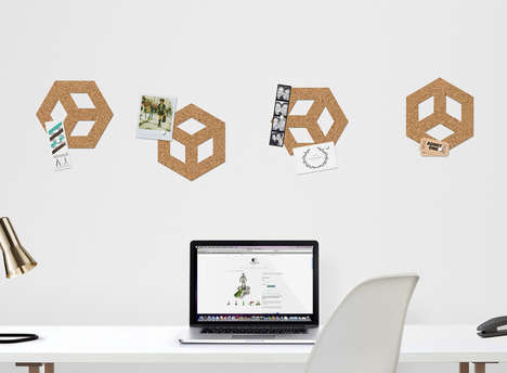 Customizable Cork Boards - The Thabto Adhesive Cork Allows Users to Design Their Own Pinboards