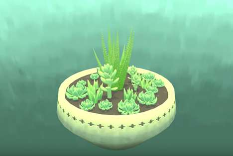Succulent-Gardening Games - The Viridi Video Game Allows Users to Nurture Plants and Watch Them Grow