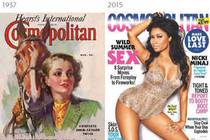 These Juxtaposed Cosmopolitan, Vogue and Time Covers Span a Century