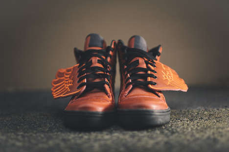 Winged Basketball Sneakers - These Adidas x Jeremy Scott Originals Look Like Winged Basketballs