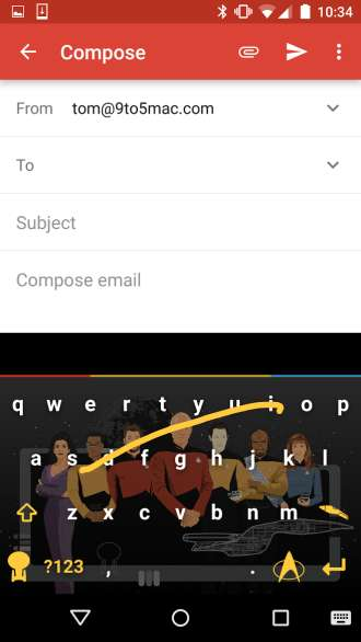 Space Travel-Themed Keyboards - These Star Trek Keyboard Wallpapers Let Texters Travel to Deep Space
