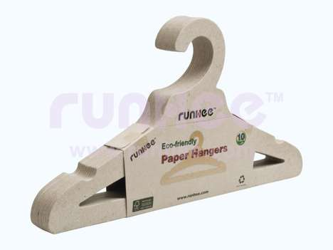 Recycled Paper Hangers - These Sturdy Space-Saving Clothes Hangers are Made From Recycled Paper