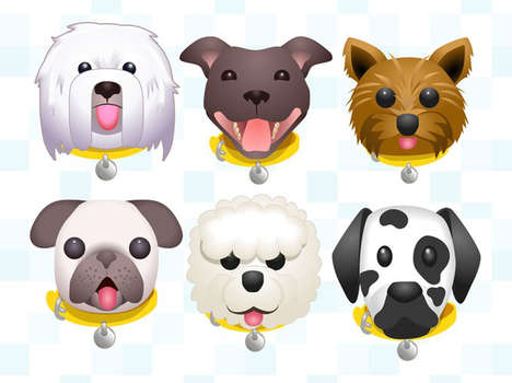 Dog Adoption Emojis - This Dog Keyboard Encourages Users to Adopt Real Canine Pets
