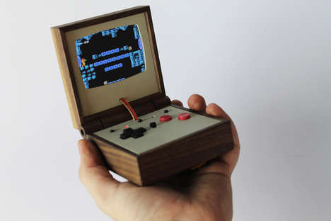 Wooden Gaming Consoles - This Retro Gaming Device Lets You Play Old Games on the Go
