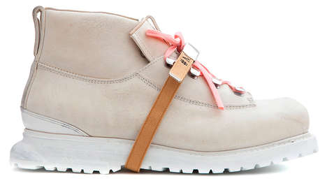 Pink Leather Hiking Boots - These Pastel Pink Boots Bring a Feminine Touch to Adventrus Exploration