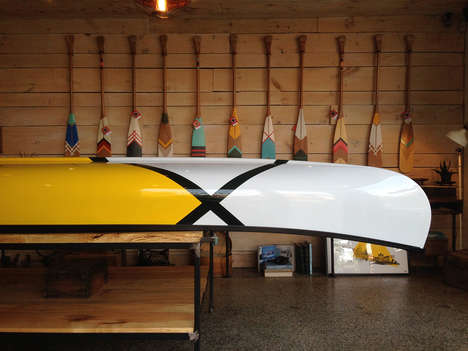 Hand-Painted Canoes - These Eye-Catching Canoes are Perfect for Floating Down the River in Style
