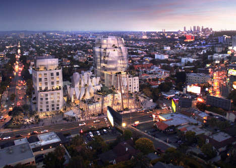 Interconnected Modern Developments - Frank Gehry Has Designed a New Sunset Strip Structure