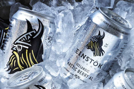 Viking-Branded Beers - These Icelandic Brews Feature a Modern Viking with Sunglasses