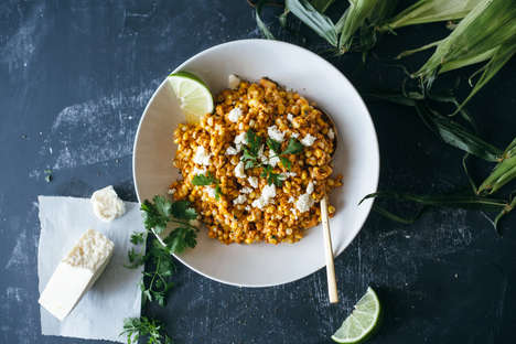 Spicy Corn Salads - This Dish is Inspired by Traditional Mexican Corn on the Cob